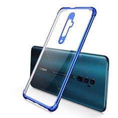 Coque Ultra Fine TPU Souple Housse Etui Transparente H01 pour Oppo Reno 10X Zoom Bleu