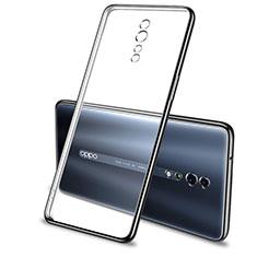 Coque Ultra Fine TPU Souple Housse Etui Transparente H01 pour Oppo Reno Z Noir