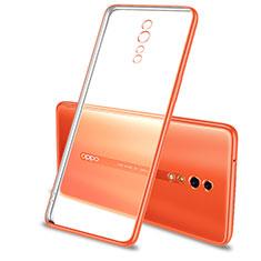 Coque Ultra Fine TPU Souple Housse Etui Transparente H01 pour Oppo Reno Z Orange