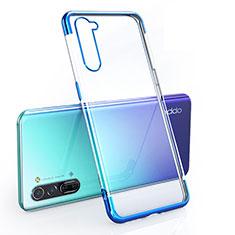 Coque Ultra Fine TPU Souple Housse Etui Transparente H01 pour Oppo Reno3 Bleu