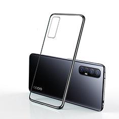 Coque Ultra Fine TPU Souple Housse Etui Transparente H01 pour Oppo Reno3 Pro Noir
