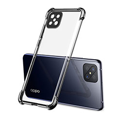 Coque Ultra Fine TPU Souple Housse Etui Transparente H01 pour Oppo Reno4 Z 5G Noir