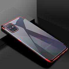 Coque Ultra Fine TPU Souple Housse Etui Transparente H01 pour Samsung Galaxy A51 5G Rouge