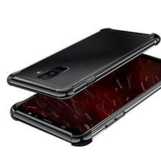 Coque Ultra Fine TPU Souple Housse Etui Transparente H01 pour Samsung Galaxy A6 Plus Noir