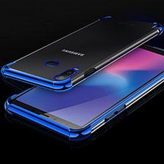 Coque Ultra Fine TPU Souple Housse Etui Transparente H01 pour Samsung Galaxy A6s Bleu