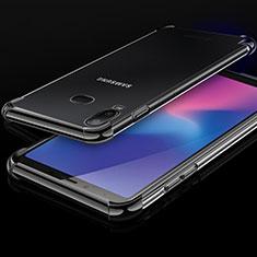 Coque Ultra Fine TPU Souple Housse Etui Transparente H01 pour Samsung Galaxy A6s Noir