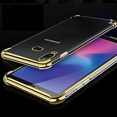Coque Ultra Fine TPU Souple Housse Etui Transparente H01 pour Samsung Galaxy A6s Or