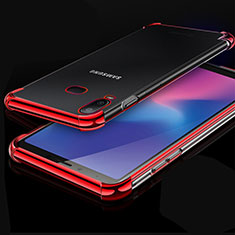 Coque Ultra Fine TPU Souple Housse Etui Transparente H01 pour Samsung Galaxy A6s Rouge