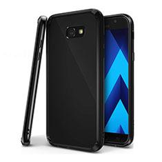 Coque Ultra Fine TPU Souple Housse Etui Transparente H01 pour Samsung Galaxy A7 (2017) A720F Noir