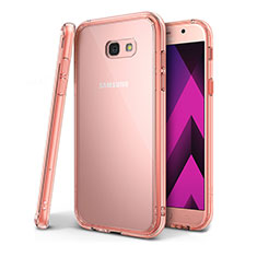 Coque Ultra Fine TPU Souple Housse Etui Transparente H01 pour Samsung Galaxy A7 (2017) A720F Rose