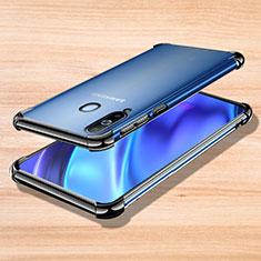 Coque Ultra Fine TPU Souple Housse Etui Transparente H01 pour Samsung Galaxy A8s SM-G8870 Noir