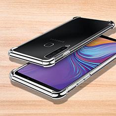 Coque Ultra Fine TPU Souple Housse Etui Transparente H01 pour Samsung Galaxy A9s Argent
