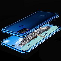 Coque Ultra Fine TPU Souple Housse Etui Transparente H01 pour Samsung Galaxy M21s Bleu