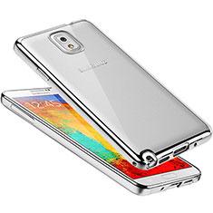 Coque Ultra Fine TPU Souple Housse Etui Transparente H01 pour Samsung Galaxy Note 3 N9000 Argent