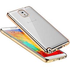 Coque Ultra Fine TPU Souple Housse Etui Transparente H01 pour Samsung Galaxy Note 3 N9000 Or