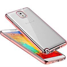 Coque Ultra Fine TPU Souple Housse Etui Transparente H01 pour Samsung Galaxy Note 3 N9000 Or Rose