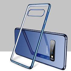 Coque Ultra Fine TPU Souple Housse Etui Transparente H01 pour Samsung Galaxy S10 Plus Bleu