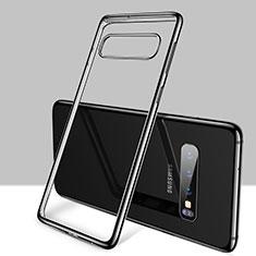 Coque Ultra Fine TPU Souple Housse Etui Transparente H01 pour Samsung Galaxy S10 Plus Noir
