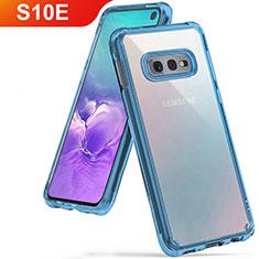 Coque Ultra Fine TPU Souple Housse Etui Transparente H01 pour Samsung Galaxy S10e Bleu Ciel
