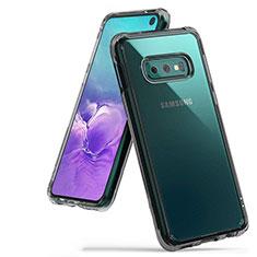 Coque Ultra Fine TPU Souple Housse Etui Transparente H01 pour Samsung Galaxy S10e Gris