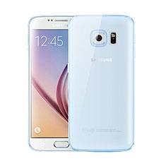 Coque Ultra Fine TPU Souple Housse Etui Transparente H01 pour Samsung Galaxy S6 Duos SM-G920F G9200 Bleu