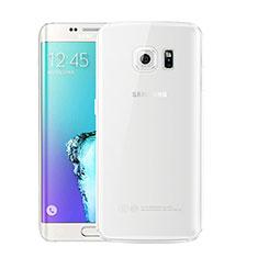 Coque Ultra Fine TPU Souple Housse Etui Transparente H01 pour Samsung Galaxy S6 Edge+ Plus SM-G928F Blanc