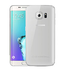 Coque Ultra Fine TPU Souple Housse Etui Transparente H01 pour Samsung Galaxy S6 Edge+ Plus SM-G928F Gris