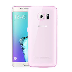 Coque Ultra Fine TPU Souple Housse Etui Transparente H01 pour Samsung Galaxy S6 Edge+ Plus SM-G928F Rose