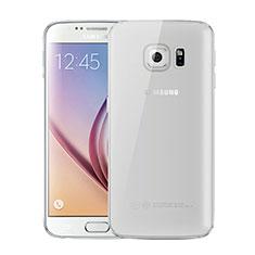 Coque Ultra Fine TPU Souple Housse Etui Transparente H01 pour Samsung Galaxy S6 SM-G920 Gris