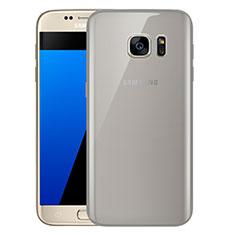 Coque Ultra Fine TPU Souple Housse Etui Transparente H01 pour Samsung Galaxy S7 G930F G930FD Gris