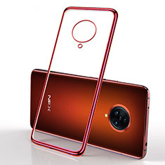 Coque Ultra Fine TPU Souple Housse Etui Transparente H01 pour Vivo Nex 3 5G Rouge