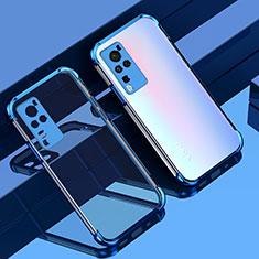 Coque Ultra Fine TPU Souple Housse Etui Transparente H01 pour Vivo X60 Pro 5G Bleu