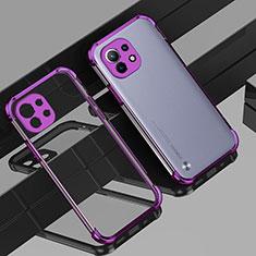 Coque Ultra Fine TPU Souple Housse Etui Transparente H01 pour Xiaomi Mi 11 5G Violet