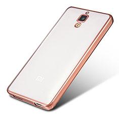 Coque Ultra Fine TPU Souple Housse Etui Transparente H01 pour Xiaomi Mi 4 Or Rose