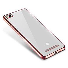 Coque Ultra Fine TPU Souple Housse Etui Transparente H01 pour Xiaomi Mi 4C Or Rose