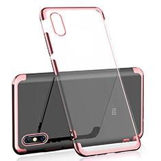 Coque Ultra Fine TPU Souple Housse Etui Transparente H01 pour Xiaomi Mi 8 Explorer Or Rose