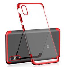 Coque Ultra Fine TPU Souple Housse Etui Transparente H01 pour Xiaomi Mi 8 Explorer Rouge