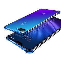 Coque Ultra Fine TPU Souple Housse Etui Transparente H01 pour Xiaomi Mi 8 Lite Bleu