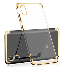 Coque Ultra Fine TPU Souple Housse Etui Transparente H01 pour Xiaomi Mi 8 Pro Global Version Or