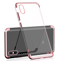 Coque Ultra Fine TPU Souple Housse Etui Transparente H01 pour Xiaomi Mi 8 Pro Global Version Or Rose