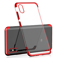 Coque Ultra Fine TPU Souple Housse Etui Transparente H01 pour Xiaomi Mi 8 Pro Global Version Rouge