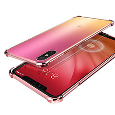 Coque Ultra Fine TPU Souple Housse Etui Transparente H01 pour Xiaomi Mi 8 Screen Fingerprint Edition Or Rose