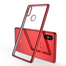 Coque Ultra Fine TPU Souple Housse Etui Transparente H01 pour Xiaomi Mi 8 SE Rouge