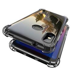 Coque Ultra Fine TPU Souple Housse Etui Transparente H01 pour Xiaomi Mi A2 Lite Gris