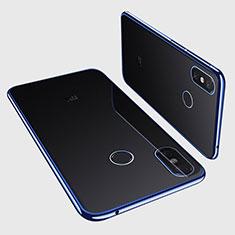Coque Ultra Fine TPU Souple Housse Etui Transparente H01 pour Xiaomi Mi Max 3 Bleu