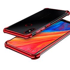 Coque Ultra Fine TPU Souple Housse Etui Transparente H01 pour Xiaomi Mi Mix 2S Rouge