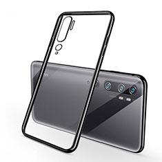 Coque Ultra Fine TPU Souple Housse Etui Transparente H01 pour Xiaomi Mi Note 10 Noir
