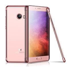 Coque Ultra Fine TPU Souple Housse Etui Transparente H01 pour Xiaomi Mi Note 2 Or Rose