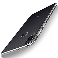 Coque Ultra Fine TPU Souple Housse Etui Transparente H01 pour Xiaomi Mi Play 4G Argent