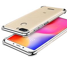 Coque Ultra Fine TPU Souple Housse Etui Transparente H01 pour Xiaomi Redmi 6 Argent